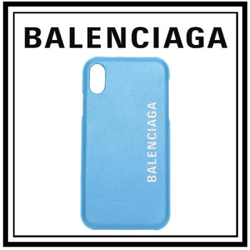 BALENCIAGA バレンシアガ スマホケース 偽物 IPHONE X ケース スマホケース ブルー