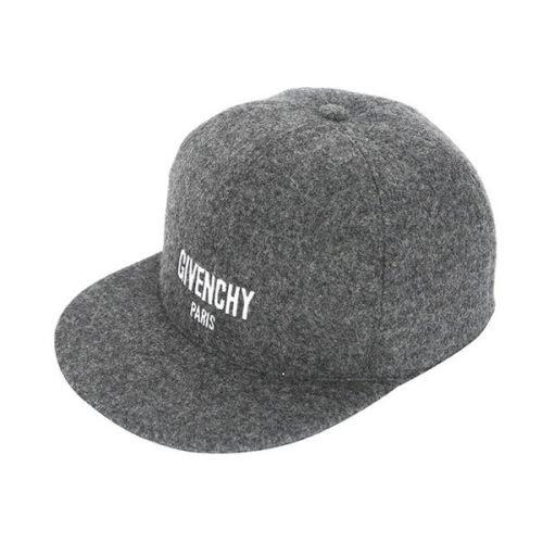 ジバンシィ 帽子コピー ロゴ刺繍 ウール スナップバック/キャップ GREY