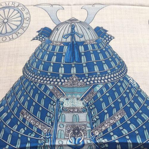 エルメス カシミアショールルコピー140 侍の鎧兜 H243071S 06スカーフ ストール