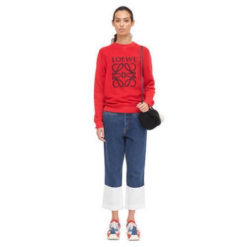 【18AW NEW】ロエベ トレーナー コピーLOEWE_women/Anagram Sweatshirt スウェット/レッド