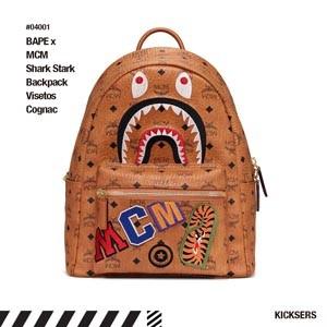 【MCM x Bape】エムシー エムリュック 偽物 限定品☆Shark Stark バックパック