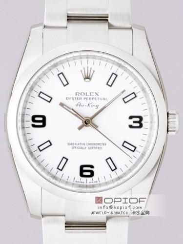 ロレックス エアーキング スーパーコピー114200 ホワイト3・6・9アラビア