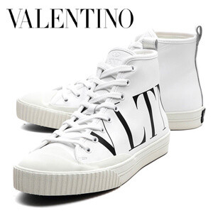 VALENTINO VLTN ヴァレンティノ ハイカット スニーカー コピー レザー_WHITE