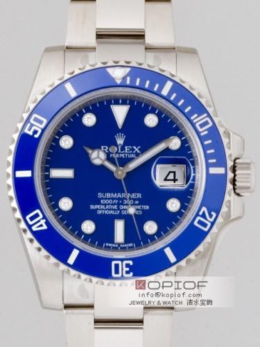 ロレックス サブマリーナ スーパーコピー116619GLB 8Pダイヤ ブルー