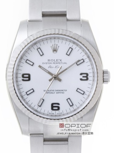ロレックス エアーキング スーパーコピー114234 ホワイト3・6・9ホワイトバー
