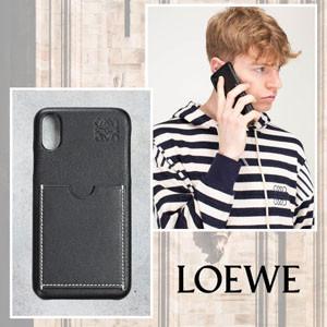 ユニセックス【LOEWE ロエベ ケース コピー】レザー iPhoneケース