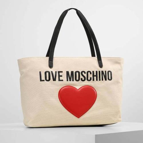 Love モスキーノ トートバッグ コピー ロゴトートバック ベージュ