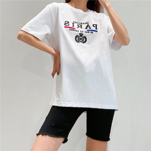バレンシアガ tシャツ 偽物 2020SS パリ フラッグ レギュラー Tシャツ