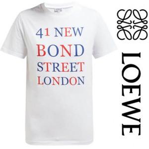 【LOEWE】BOND STREET &ロエベ Tシャツ コピー ロゴプリントコットンTシャツ S6199724CR