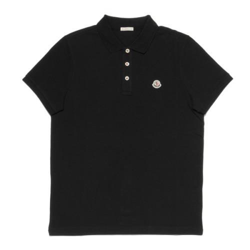 モンクレール ポロシャツ コピー メンズ 8340800 84556 999 半袖ポロシャツ BLACK ブラック