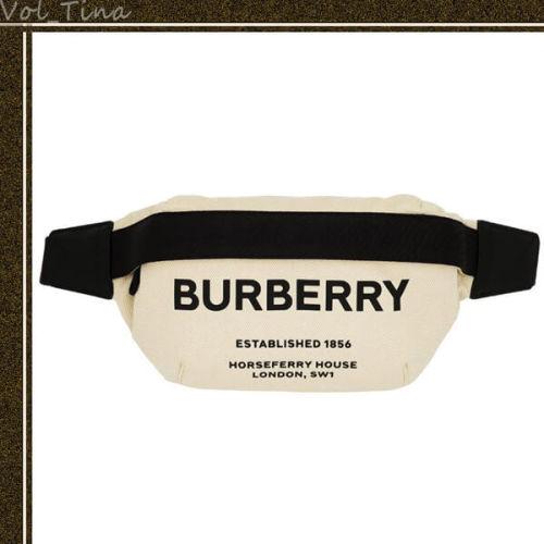 BURBERRY バーバリー ウエストポーチ コピー ロゴ キャンバス ベルトバッグ