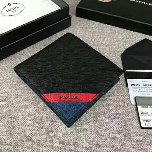 プラダ 財布コピーPRADA SAFFIANO 折りたたみ財布 2M0513 2EG0 F0VE2 NAVY サフィアーノカーフ