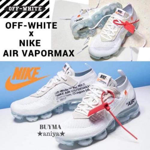 """ホワイト オフホワイト ナイキ レプリカ 激安 OFF-WHITE × AIR VAPORMAX """"BLACK"""" & """"WHITE""""ヴェイパーマックス"""