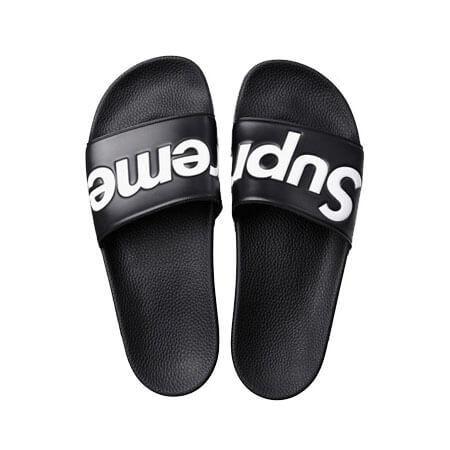 Supreme シュプリーム サンダル 偽物 Slides Sandals Black 夏のスリッパに最高です!