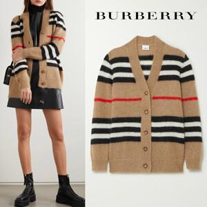 バーバリー カーディガン コピー∞∞ Burberry ∞∞ Striped mohair-blend カーディガン☆