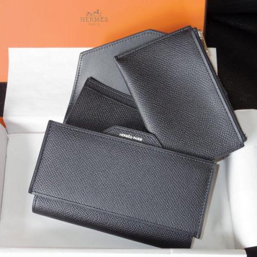 エルメスコピー 新作 コンパクト財布 パッサン かっこいい パッサンコンパクト Noir