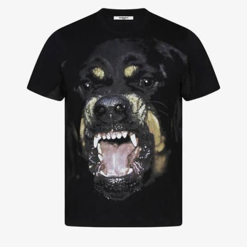 ジバンシー tシャツ 偽物 ロットワイラーオーバーサイズTシャツ ・ブラックジャージーTシャツ