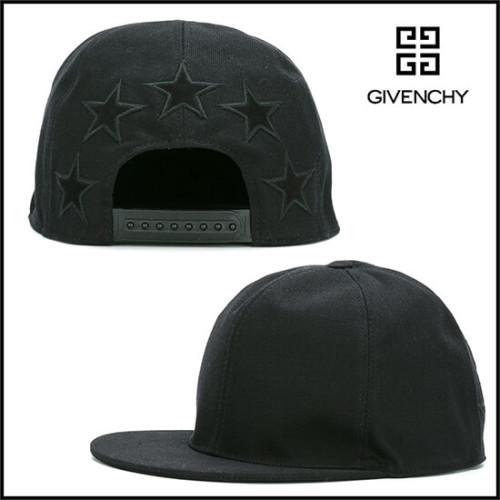ジバンシィ 帽子コピー ブラック シンプルなスター刺繍キャップ
