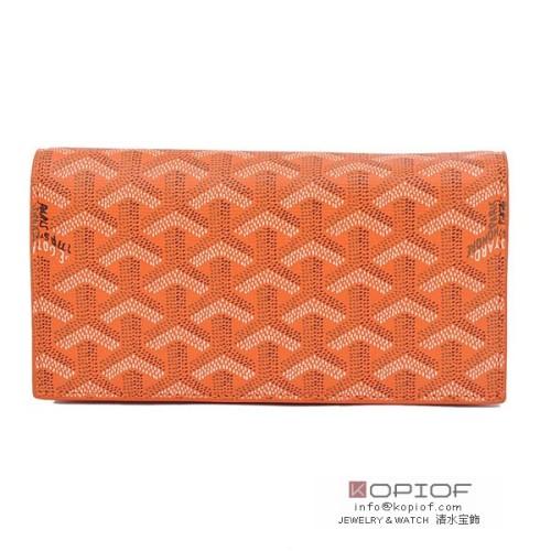 ゴヤール 財布 スーパーコピー長財布 二つ折り オレンジ go106