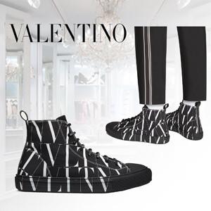 *VALENTINO*VLTN ヴァレンティノ ハイカット スニーカー コピー ●ブランド● VALENTINO GARAVANI ヴァレンティノ ガラヴァーニ 『VLTN ハイカットスニーカー』 VLTNのロゴが刻印された、マジックテ