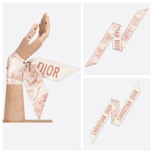 ディオール スカーフ コピー Dior DIORIVIERA トワル ドゥ ジュイ MITZAH ピンク