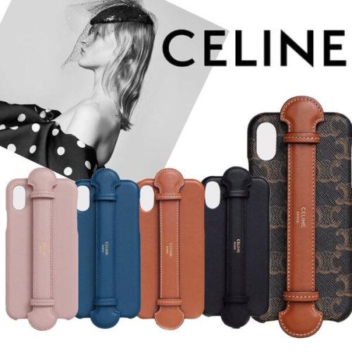 セリーヌ アイフォン ケース 偽物 CELINE IPHONE X & XS ストラップ付きケース