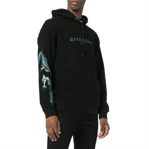 2020新作限定大人気 ジバンシィ偽物 パーカー GIVENCHY 20AW Logo&Dragon BLACK