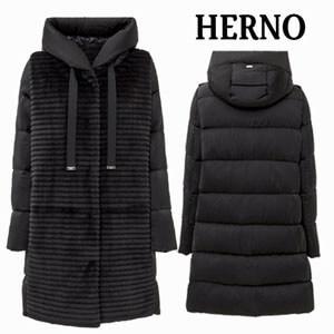 HERNO ヘルノ偽物RESORT エコファー フード付き パデッド コートpi066dr12356 9300