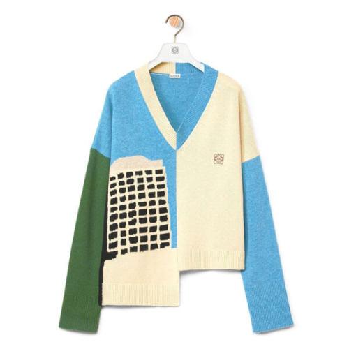 【今季欲しい!】LOEWEL.A. シリーズカラーブロックセータースーパーコピー S897Y14K02
