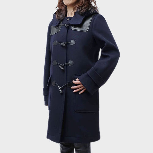 CELINE ウール×ラム革 ラグジュアリーなダッフルコート セリーヌ服コピー