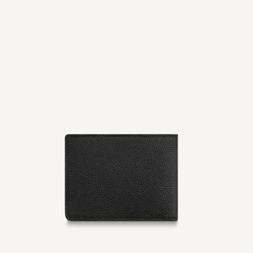 ルイヴィトン ポルトフォイユ・ミュルティプル 折り財布偽物 黒 ロゴ 新作 M69829
