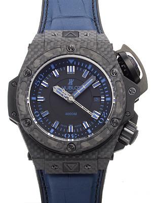 ウブロ キングパワー スーパーコピーオーシャノグラフィック 4000 オールブラックブルー 731.QX.1190.GR.ABB12