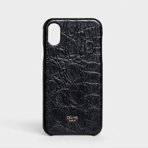 セリーヌ アイフォン ケース 偽物 THE CASE FACTORY ブラック iPhone 11 Proケース グレインドラムスキン