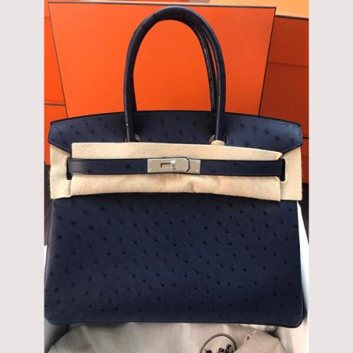 Hermes★(入手不可能.顧客のみの特権)Birkinオーストリッチ30cmスーパーコピー ハンドバッグ