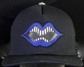 有名コラボ クロムハーツ 帽子 コピー 青MATTYBOY LIPS ブルーキャップ