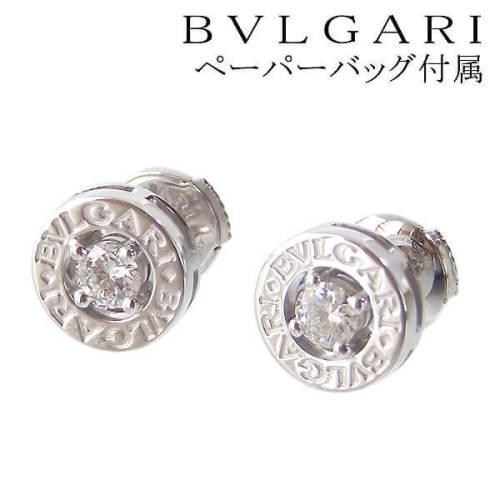 ブルガリ 偽物 ピアス BVLGARI ダイヤ ホワイトゴールド スタッドピアス ブルガリイヤリング OR140802