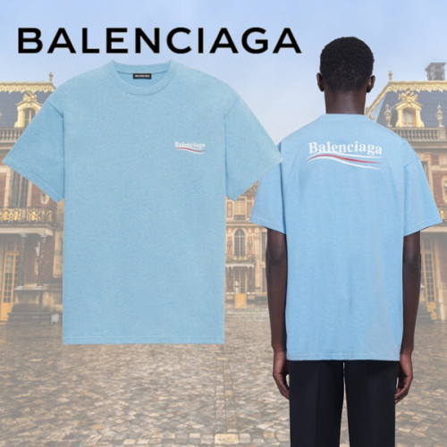 バレンシアガ tシャツ 偽物 BALENCIAGA tシャツ ロゴ 半袖 政治キャンペーンTシャツ