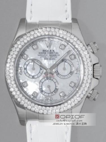 ロレックス デイトナ スーパーコピー116589RBR NG 白皮 ホワイトシェル