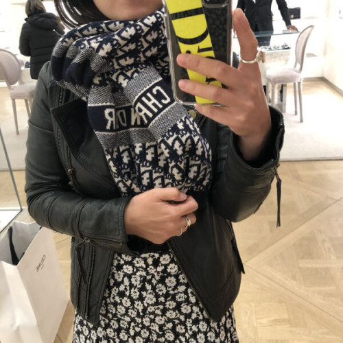 【Dior】20AW ウール/カシミヤ CD OBLIQUE ストール 偽物 (各色) 91CDO313I171