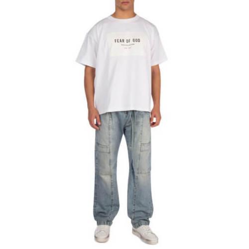 関税・送料込 FEAR OF GOD パロディWHITE COTTON Tシャツ
