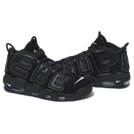 シュプリーム モアテン ナイキ エア モア アップテンポ Supreme x Nike Air More Uptempo ブラック