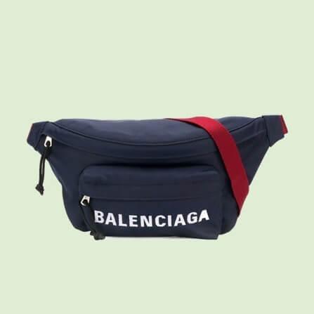 バレンシアガ ベルトバッグ 偽物 ナイロン BALENCIAGA ロゴ ベルトパック BELTBAG