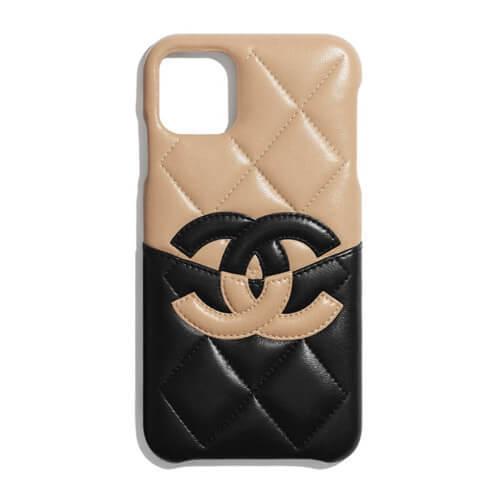 国内発送【CHANEL】 iPhone XI Pro Max シャネルスーパーコピー iPhone XI PRO クラシック ケースケース ラムスキン (52951922)