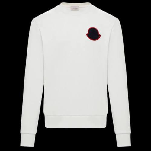 モンクレール t シャツ コピー Moncler メンズライン 胸ワッペン スウェットシャツ ホワイト2020春夏新作コレクション