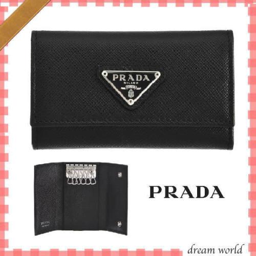 人気 PRADA プラダキーケース コピー 6連キーケース ブラック