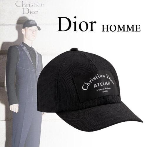 Dior ディオール キャップスーパーコピー CDアトリエ ブラックウール ベースボールキャップ733C903P4178 C900