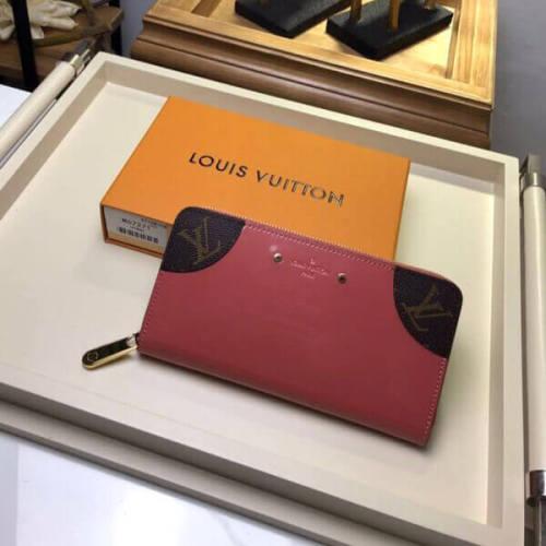 ルイヴィトン 財布コピー ジッピーウォレット ピンク長財布 カーフスキン M62318 でカラフルな 斬新なデザイン