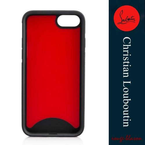 ルブタン スマホケース コピーChristian Louboutin Loubiphone iPhone7 iPhone8 レッドソール 1185102M442