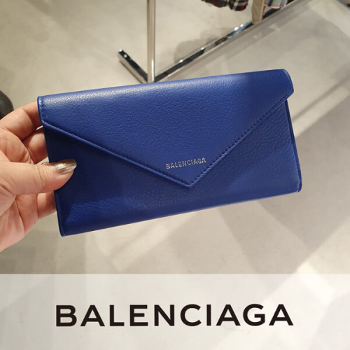 バレンシアガ 財布 コピー Balenciaga 絶対欲しい ペーパーフラップ長財布