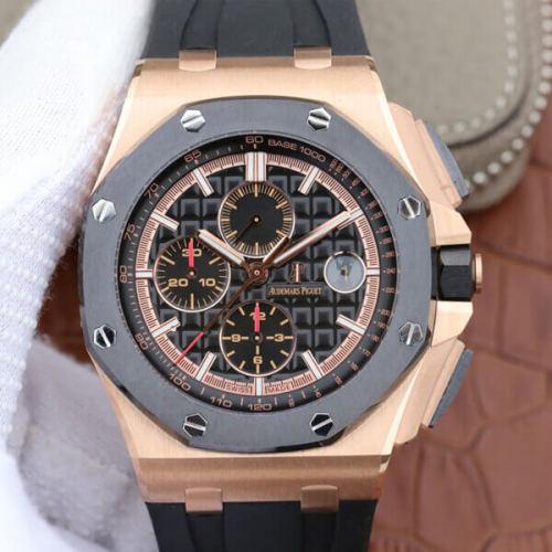 オーデマ・ピゲ ロイヤルオーク オフショアクロノ QE2 26406FR.OO.A002CA.01 腕時計 K18ピンクゴールド フォージドカーボン メンズ